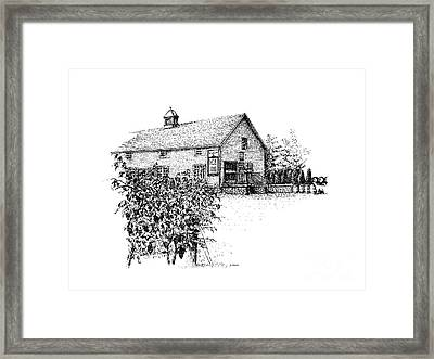 Ice House Winery Framed Print by Steve Knapp