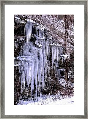 Ice I Framed Print