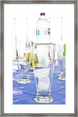 Ice In A Glass Framed Print by Tom Gowanlock