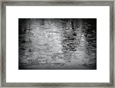 Ice In Triangles Framed Print by Mary Zeman