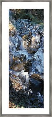 Ice Is Encrusting A Waterfall Framed Print by Ulrich Kunst And Bettina Scheidulin