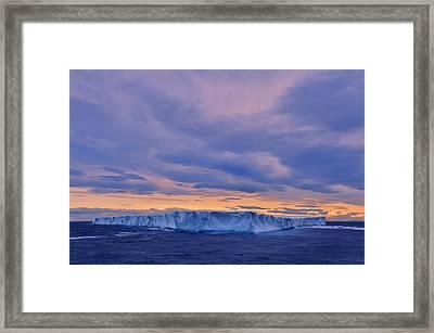 Ice Island Framed Print