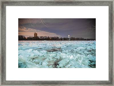 Ice Jam Framed Print