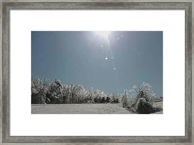 Framed Print featuring the photograph Ice Kissed by Ellen Levinson