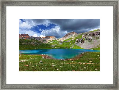 Ice Lake Afternoon Framed Print by Darren  White