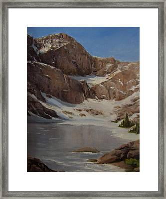 Ice Lake - July  Framed Print by Mar Evers