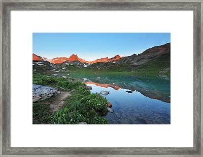 Ice Lake Sunrise Framed Print