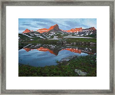Ice Lakes Alpenglow Framed Print