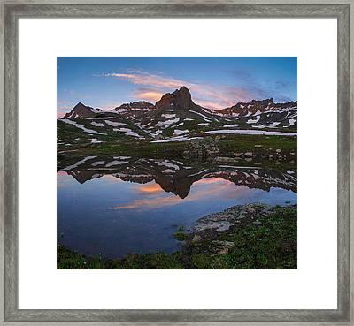 Ice Lakes Basin Sunrise Framed Print