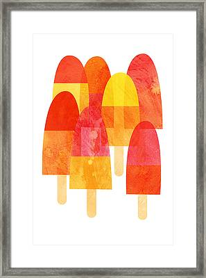 Ice Lollies Framed Print