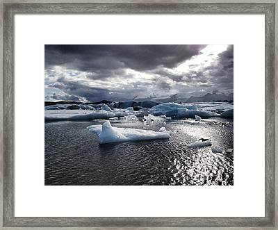 Ice Framed Print by Michael Fitzpatrick