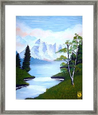 Ice Mountain Framed Print by Richard Bantigue