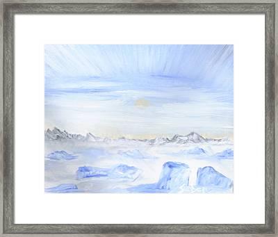 Ice Movement Framed Print