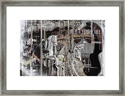 Ice On My Carousel Framed Print by Evie Carrier