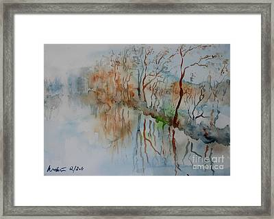 Ice On River Rednitz Framed Print