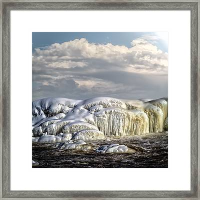 Ice On The Rocks Framed Print by Bob Orsillo