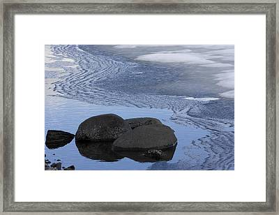 Ice Out At Pumice Point Framed Print