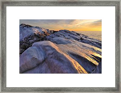 ice Framed Print by Paul Noble