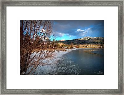 Ice Piles2 On Skaha Lake Penticton 02-19-2014 Framed Print