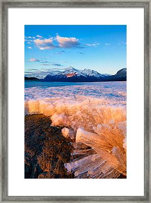 Ice Pillars Framed Print