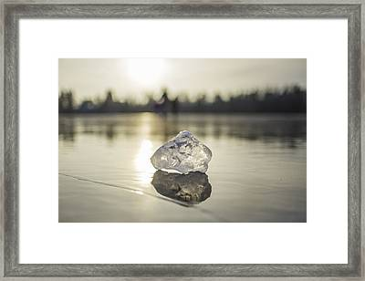 Ice Puck On Little Rock Lake Framed Print