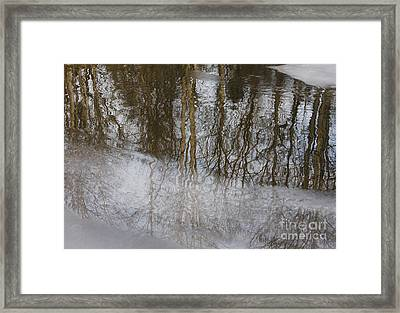 Ice Reflection Framed Print