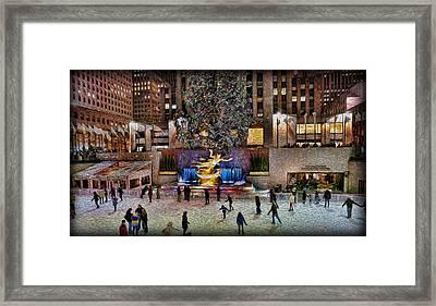 Ice Rink At Rockefeller Center Framed Print