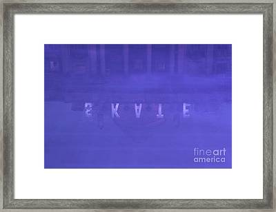 Ice Rink At Somerset House Framed Print by Jasna Buncic