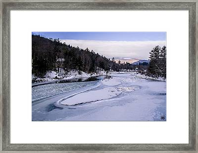 Ice River Framed Print by Christine Nunes