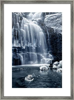 Ice Rocks At Scaleber Force Falls Framed Print by Chris Frost