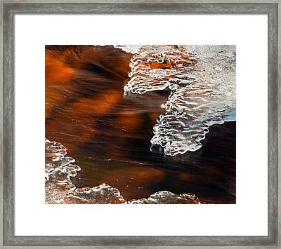 Ice Sculpting  Framed Print