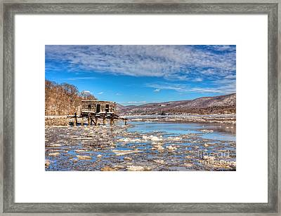 Ice Shack Framed Print