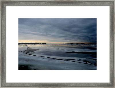 Ice Shatter - Storm Imagined - Canada Framed Print