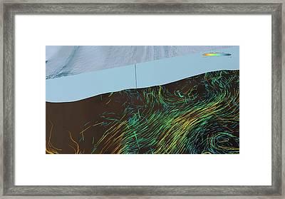 Ice Shelf Ocean Currents Framed Print