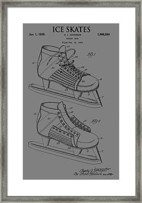 Ice Skate Patent Framed Print by Dan Sproul