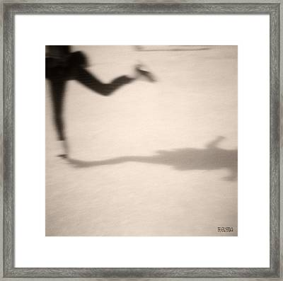 Ice Skater Framed Print by Beverly Brown