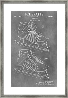Ice Skates Patent Framed Print by Dan Sproul