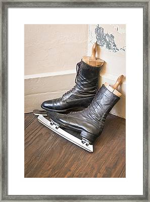 Ice Skates Framed Print by Tom Gowanlock