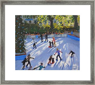 Ice Skating Framed Print by Andrew Macara
