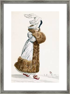 Ice Skating Dress, Engraved By Georges Framed Print