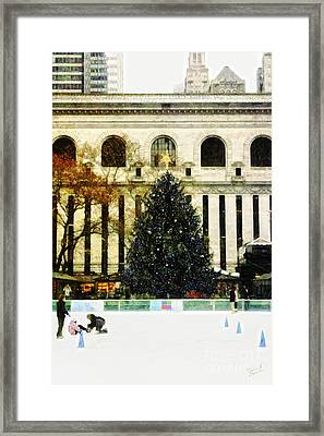 Ice Skating During The Holiday Season Framed Print by Nishanth Gopinathan
