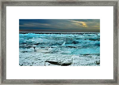 Ice Storm # 3 - Battery Bay - Kingston - Canada Framed Print