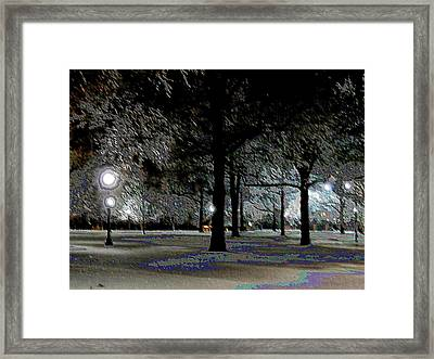 Ice Storm At Keeneland Framed Print by Christopher Hignite