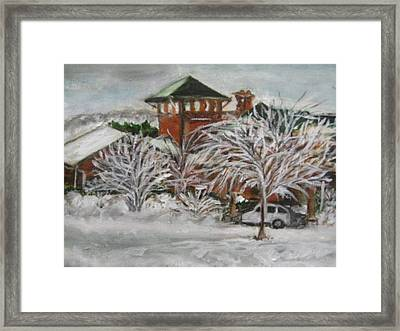 Ice Storm In Montana Framed Print