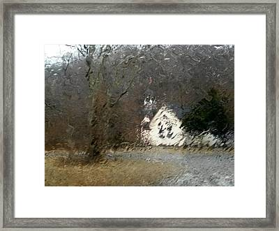 Framed Print featuring the photograph Ice Storm by Steven Huszar