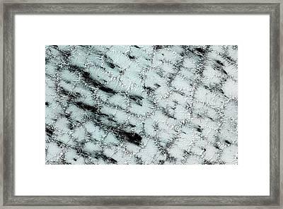 Ice Sublimation On Mars Framed Print