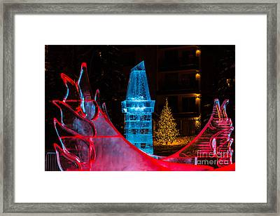 Ice Tower And Xmas Tree Framed Print