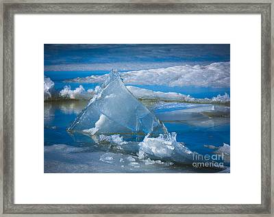 Ice Triangle Framed Print by Inge Johnsson