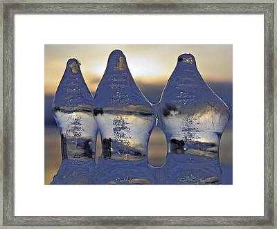 Ice Trio Framed Print