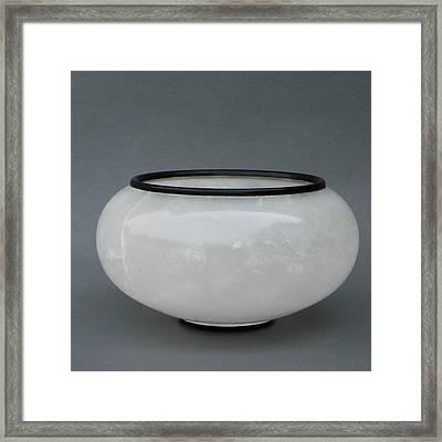 Ice Vase Framed Print by Leslie Dycke